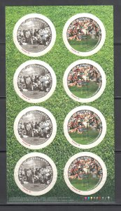 Canada #2051-2052 (2052i) Complete Sheet with Missing Silver Golfer-ECV $2500.00