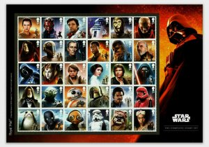 GB 2019 Star Wars composite sheet UNMOUNTED MINT/MNH