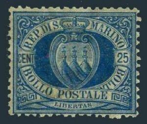 San Marino 14,hinged.Michel 30. Coat of Arms,1895.