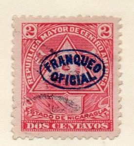 Nicaragua 1898 Early Issue Fine Used 2c. Official Optd 323802