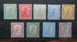Montserrat 1908 - 1914 set to 2/6 Fresh Mint SG35 - SG46