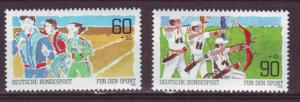 J478 jls stamps 1982 germany mnh sports set/2, scn b598-9