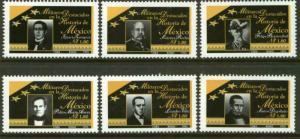 MEXICO 1937-1942, Famous Generals. MINT, NH. F-VF. (69)