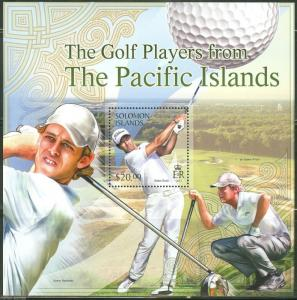 SOLOMON ISLANDS 2013 GOLFERS FROM THE PACIFIC REGION   SOUVENIR SHEET  MINT NH