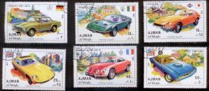 Ajman 1971 Mi# 956-61Sports Cars CTO L395