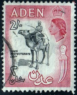 Aden #57a Protectorate Levy, used. PM, HR, Thin Stamp