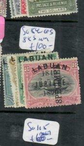 LABUAN (PP1811B) JUBILEE SPECIMENS     SG 84-6S, 88S  MOG