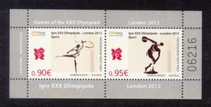 Montenegro Sc# 314a MNH Summer Olympic Games 2012 (S/S)