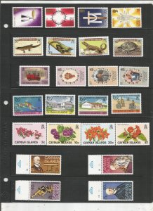 CAYMAN ISLANDS COLLECTION ON STOCK SHEET MNH