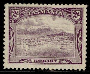 AUSTRALIA - Tasmania EDVII SG245a, 2d deep purple, M MINT. Cat £50. PERF 11