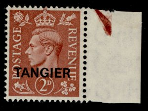 MOROCCO AGENCIES GVI SG283, 2d pale red-brown, NH MINT.