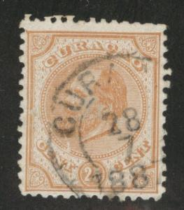 Netherlands Antilles Curacao  Scott 5 used perf 12x11.5
