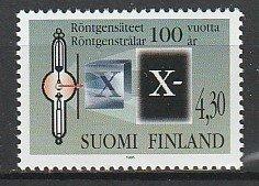 1995 Finland - Sc 970 - MNH VF - 1 single - Wilhelm Roentgen - X-rays
