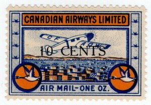 (I.B) Canada Private Air Mail : Canadian Airways 10c