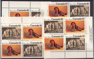 Canada USC #579i & 579a Mint 1976 10c Iroquoian Indians MS - VF-NH