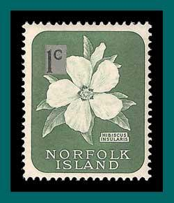 Norfolk Island 1966 Surcharge, 1c thin, MNH  71,SG60