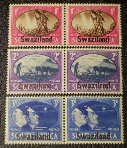 Swaziland Scott #38-40 mnh