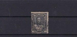 HAWAII 1875 10c BLACK  STAMP  R3756