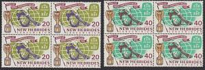 NEW HEBRIDES 1966 Football World Cup set blocks of 4 MNH...................54823