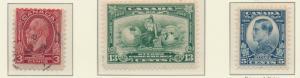 Canada Stamp Set Scott #192 Used, 193-4 Mint Hinged - Free U.S. Shipping, Fre...