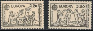 French Andorra SC372-373 Children's Games Europa MNH 1989