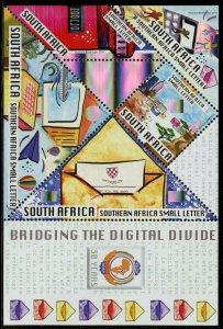 SOUTH AFRICA HOLOGRAM SOUVENIR SHEET SCOTT#1401A/D  MINT NEVER HINGED
