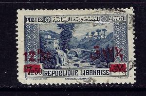 Lebanon 151 Used 1939 surcharge slightly rounded corner