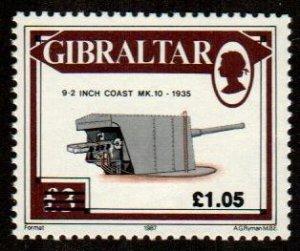 GIBRALTAR 1991 ,Ovpt stamp   # 595 MNH