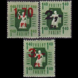 HUNGARY 1954 - Scott# Q9-11 Farmer Surch. Set of 3 NH