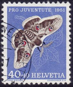 Switzerland - 1952 - Scott #B211 - used - Insect Butterfly