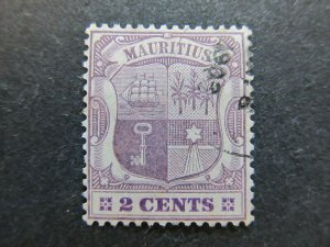 A4P42F25 Mauritius 1900-05 Wmk Crown CA 2c used