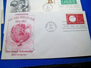 U.S. FIRST DAY COVER SETS - LOT of 13 - 1964-1983 - STAMPED ENVELOPES  (FDC-33x)