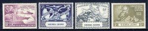 Sierra Leone - Scott #190-193 - MNH - SCV $3.00