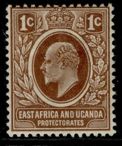 EAST AFRICA and UGANDA EDVII SG34, 1c brown, M MINT.