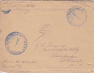 1919, APO 830 to Champlain, IL (M4886)
