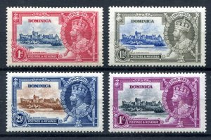 Dominica 1935 KGV. Silver Jubilee set of 4. Mint. LH. SG92/95.