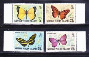 Virgin Islands 342-345 Set MNH Insects, Butterflies