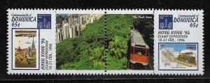 DOMINICA, 1645A, MNH, PAIR, HONG KONG '94