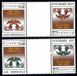 [SU745GP] Suriname 1992 UPAE Gutter pairs MNH
