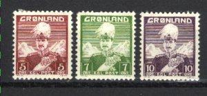 Greenland #2-4  Mint VF 1938-46 PD