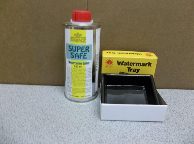 WATERMARK FLUID & FLUID TRAY SUPER SAFE 8.45 OZ MANUFACTURED IN GERMANY BY PRINZ