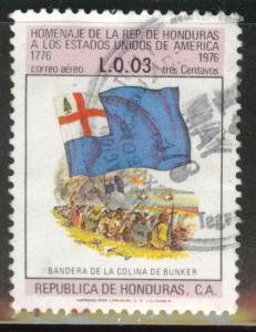 Honduras  Scott C603 used  flag airmail