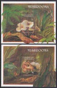 Dominica #1665-66 s/sheets F-VF Mint NH ** Mushrooms