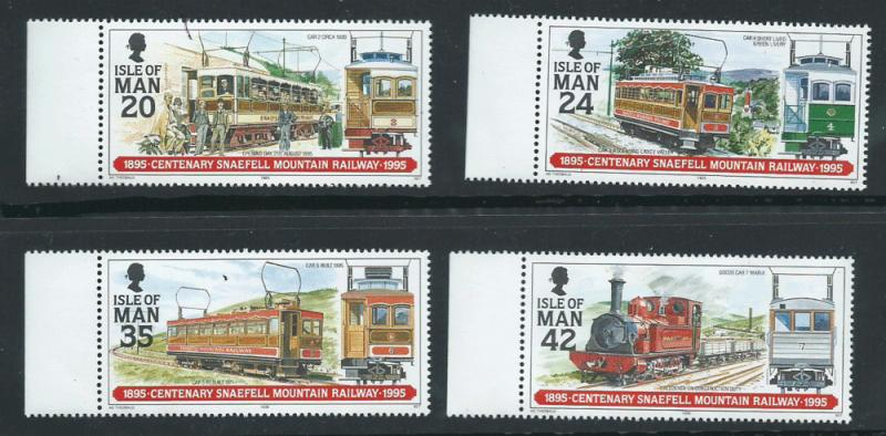 Isle of Man MUH SG 634-637 Margin Copy