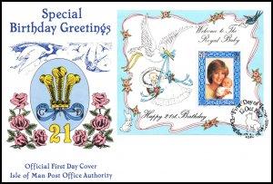 Isle of Man 223 Princess Diana Souvenir Sheet U/A FDC