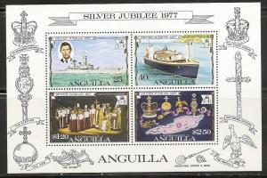 Anguilla 274a 1977 25th Elizabeth s.s. MNH