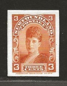 NEWFOUNDLAND  SC# 83P  CARD PROOF VF