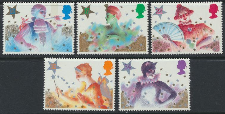 GB SG 1303 - 1307  SC# 1124-1128 Mint Never Hinged - Christmas 1985