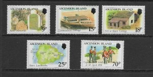 ASCENSION ISLAND - 1988 CAPTAIN WILLIAM BATE - SCOTT 440 TO 444 - MNH