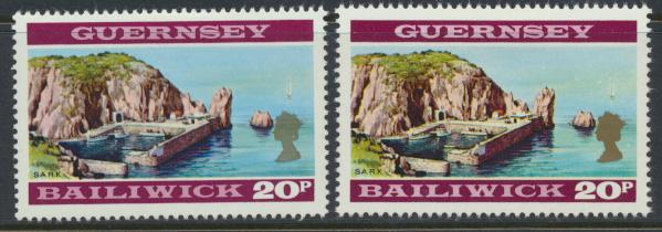 Guernsey  SG 57 & SG 57a pale shade SC# 54 Mint light hinge see details